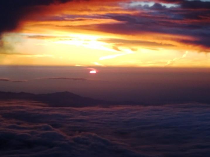 富士登山2014ご来光